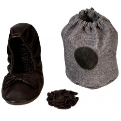 Pack ballerine marron