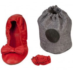 Ballerines pliables Rouge